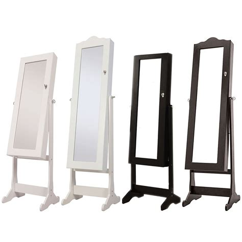 free standing jewellery armoire uk jewellery cabinet storage stand mirror free standing