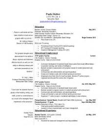 Paraprofessional Resume Sles by Paula Stieber New Resume