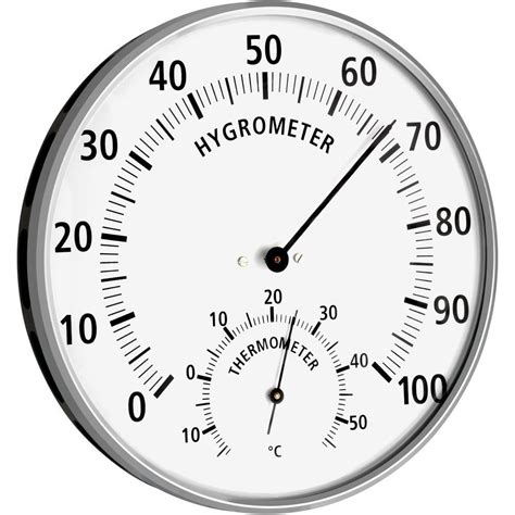 Analog Hygrometer White Large thermo hygrometer hair synthetic 13 2cm
