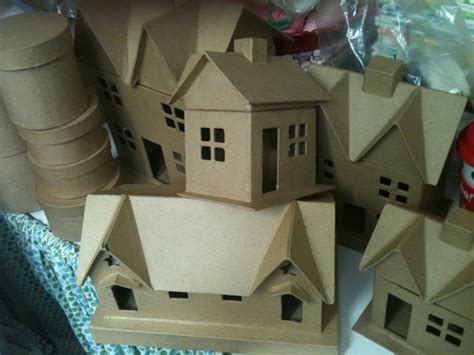 How To Make Paper Mache Houses - pin by susan gendron huotari on paper houses