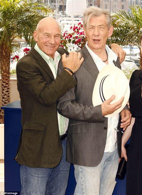 Sir Ian McKellen officiates as best friend Patrick Stewart