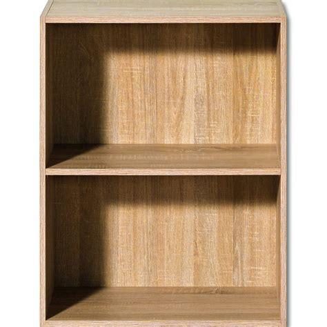 Oak Bookcase Shelf Wooden Shelves Bookshelf 77cm Shelving Small Wooden Shelves