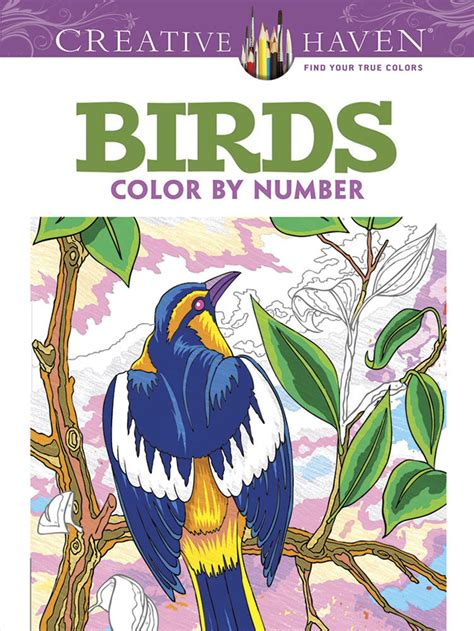 Pdf Creative Birds Number Coloring by Creative Birds Color By Number Coloring Book