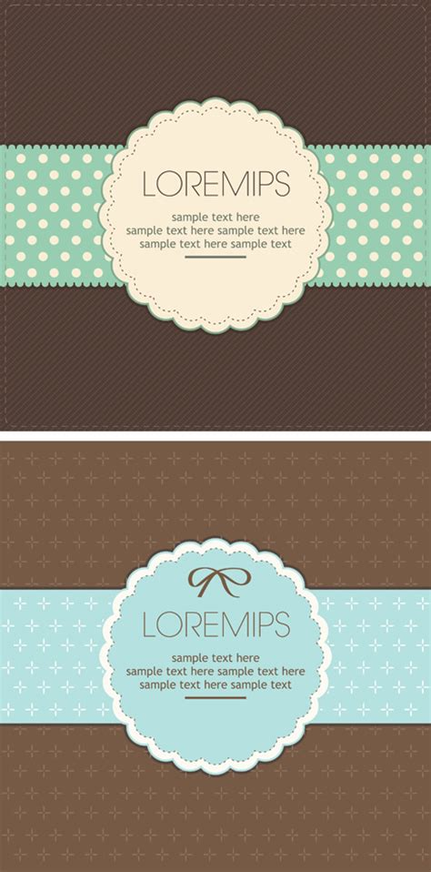 Retro Birthday Card Template by Retro Greeting Card Vector Template Design Ai Svg Eps