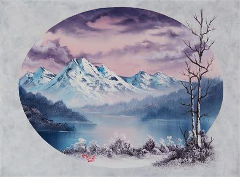 bob ross painting kit australia bob ross crimson oval painting at paintingforsale me