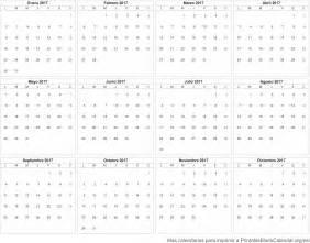 Imprimir Calendario 2017 Por Meses 2017 Calendario Para Imprimir Calendarios Para Imprimir