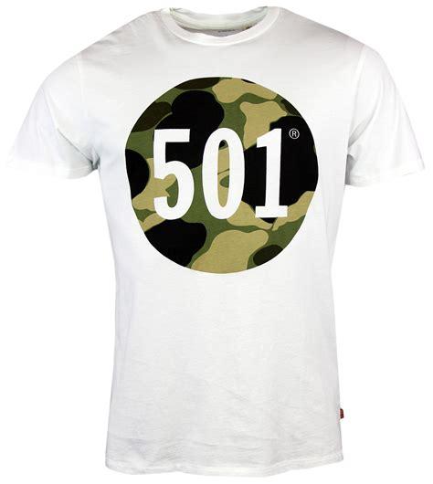 Tshirtkaos Priat Shirt Distro Levis levi s 174 retro mod 501 camo print t shirt in white