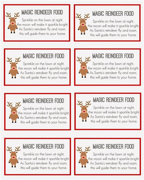 printable reindeer chow gift tag east coast mommy magic reindeer food