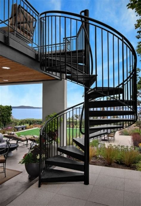 outdoor spiral staircases stairs design ideas