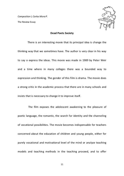 Dead Poets Society Essays by Dead Poets Society Review Essay Sle Resume For Nursing Graduate No Experience Rpi Capstone