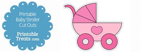 baby carriage template for cards printable pink baby stroller cut outs printable treats