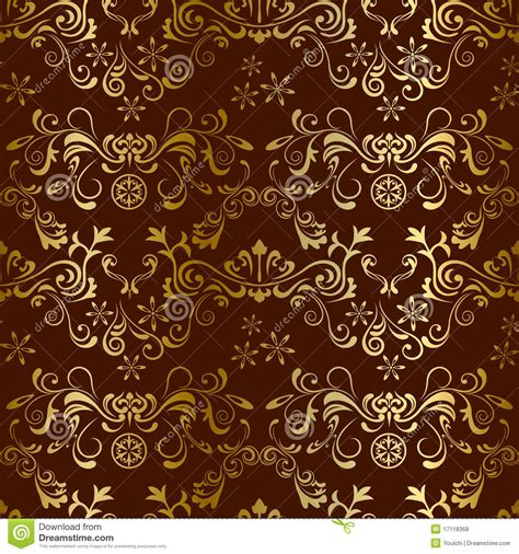 brown flower pattern abstract seamless floral brown pattern stock vector