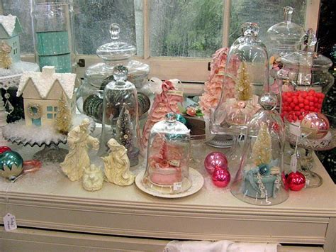 Rustic Chic Home Decor decorating with cloches for christmas
