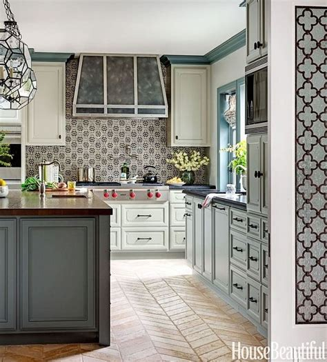 grey and green kitchen french country kitchen design photos metallic backsplash