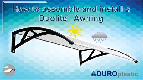 how to install an awning how to assemble and install duolite awning youtube