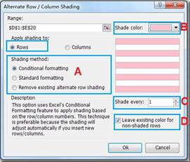 excel every other row color quickly shade or color every other row column in excel