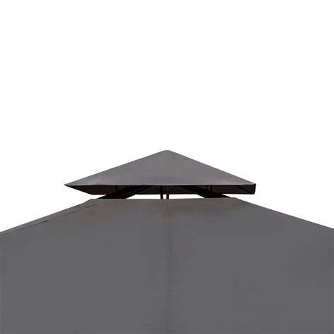 gartenpavillon 3 x 4 m vidaxl gartenpavillon aus poly rattan mit dunkelgrauem