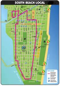 Miami South Beach Map by South Beach Bus Map Miami Beach Public Transportation