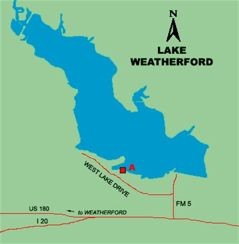 weatherford texas map lake weatherford access