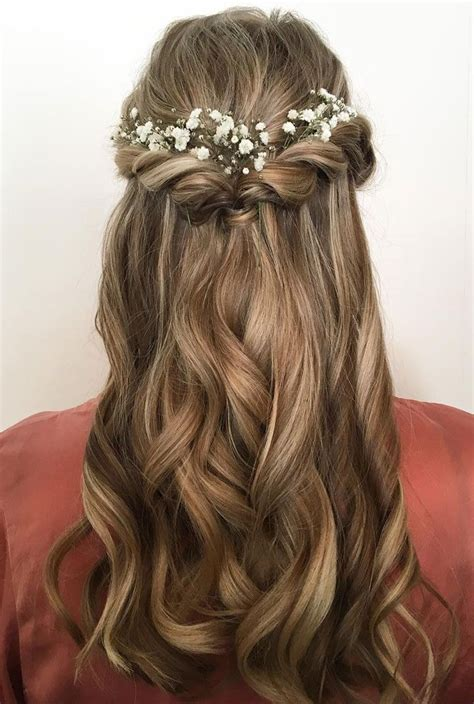 prom hairstyles hair down 25 best ideas about half up half down on pinterest prom