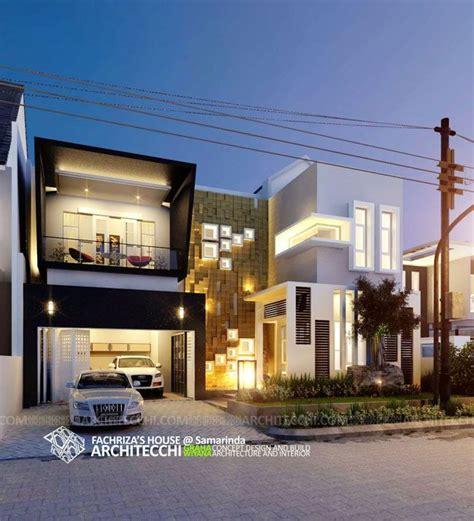 desain interior rumah lebar 4 meter desain rumah minimalis modern 2 lantai fachriza house