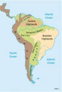 maps south america physical map diercke