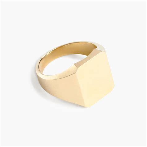 14k gold square signet ring s rings j crew