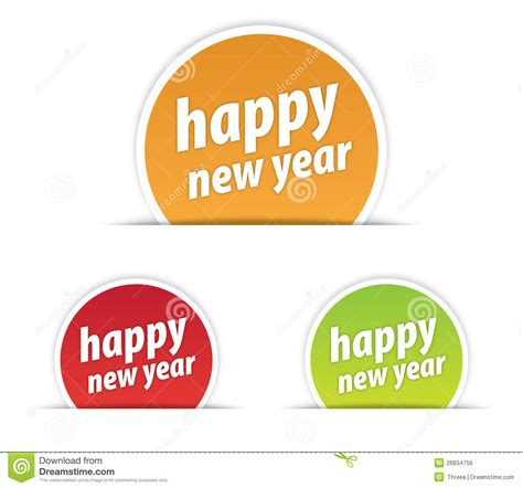 happy new year tags happy new year tag royalty free stock image image 26834756
