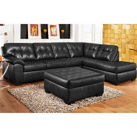 black sectional with ottoman 15 the best black leather sectionals with ottoman