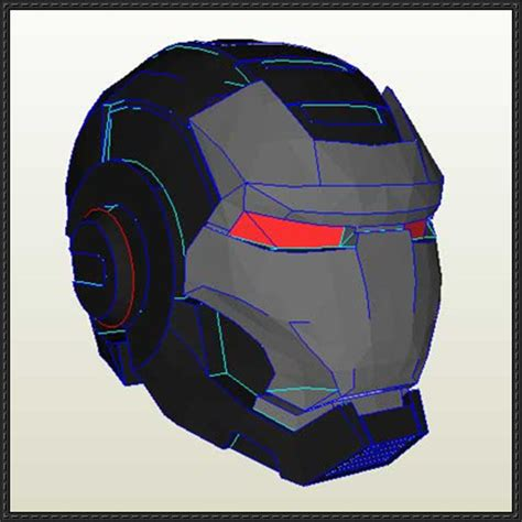 Papercraft Ironman Helmet - papercraftsquare new paper craft size iron