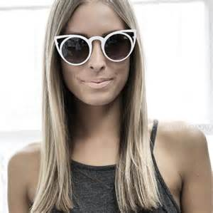 girly l shades sunglasses cat eye shades white sunglasses hipster style trendy stylish trendy girly