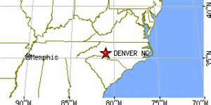 denver carolina map denver carolina nc population data races