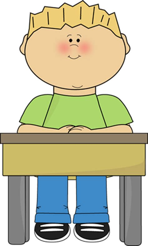 picture of student sitting at desk student sitting at school desk card clip student