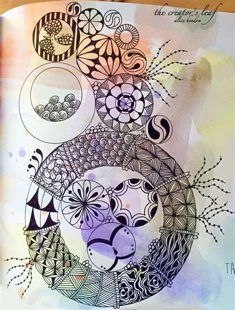 zentangle pattern generator circle stacks alice hendon stacked and tangled the