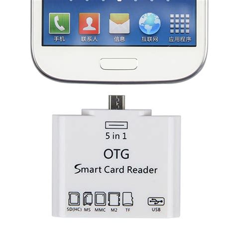 Otg Smart universal 5 in 1 otg micro usb card readers connection ms sd tf for smartphone ebay