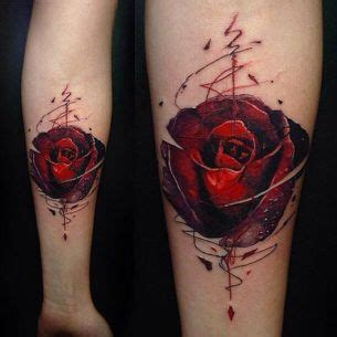 rose bud tattoo designs eszteiz bud watercolor styled trash polka