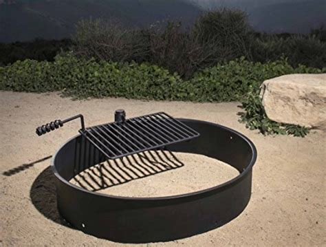 pit ring with grill 36 steel ring with cooking grate cfire pit park