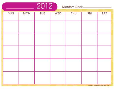Diy Calendar Template diy monthly printable calendar template crafty printable calendar template