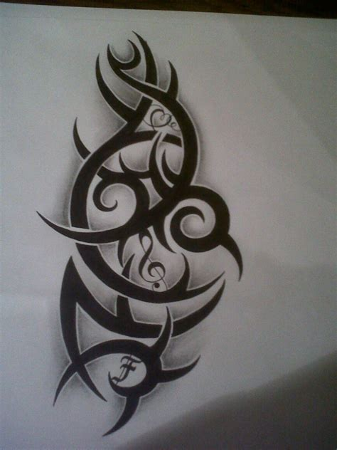 musical tribal tattoo designs love and music tribal tattoo