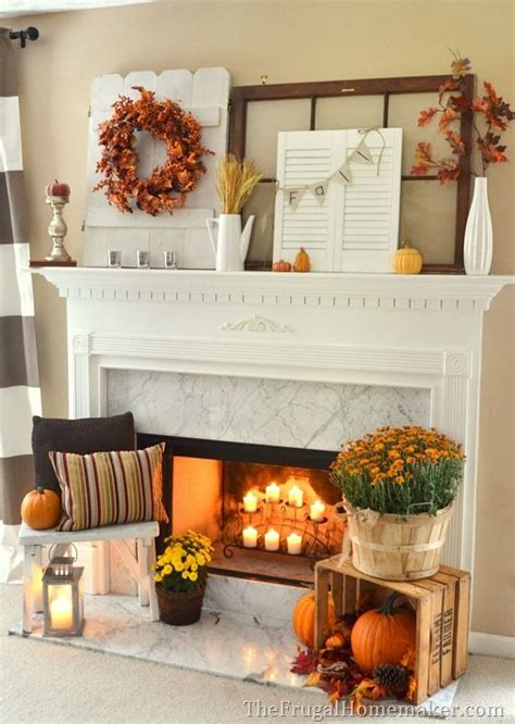 fall decorations for home fall decorating inspiration for your mantel my home a