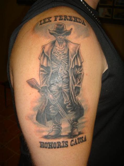 lex ferenda honoris causa western tattoo on right half
