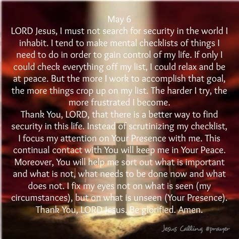 jesus calling book of prayers books bakers blessings jesus calling prayer may 6