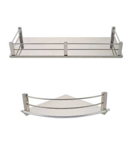 buy dolphy stainless steel corner shelf 6 inch and