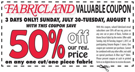 haircut deals on tuesday fabricland canada 3 day coupon save 50 off regular price