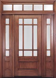Exterior Door With Transom Craftsman Wood Doors For Your House Free Shipping Shop