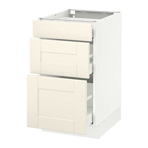 Ikea Kitchen Base Cabinets by Sektion Base Cabinet With 3 Drawers White Ma Grimsl 246 V
