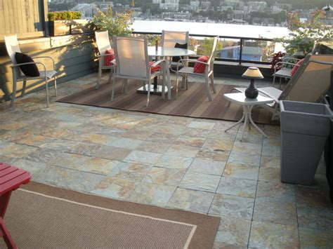 moderne terrassenfliesen interlocking slate deck tiles on patio modern patio