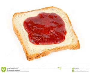 Bread slice with butter and jam royalty free stock image image
