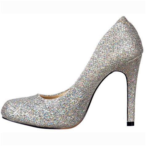 silver shoes onlineshoe sparkly silver shimmer glitter sequined mesh
