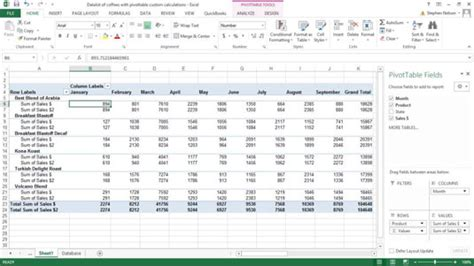 how to a calculation table in excel how to create custom calculations for an excel pivot table
